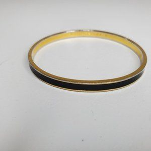 Kate Spade Bangle Draw The Line Thin Black Gold To